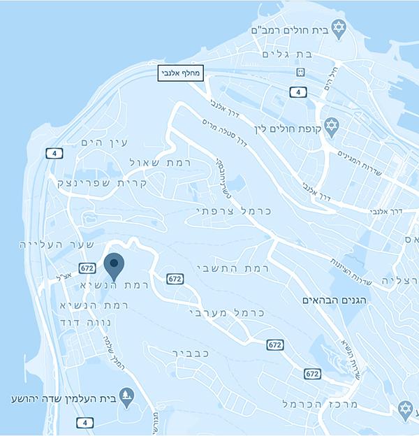 מפה גם ים רמת הנשיא