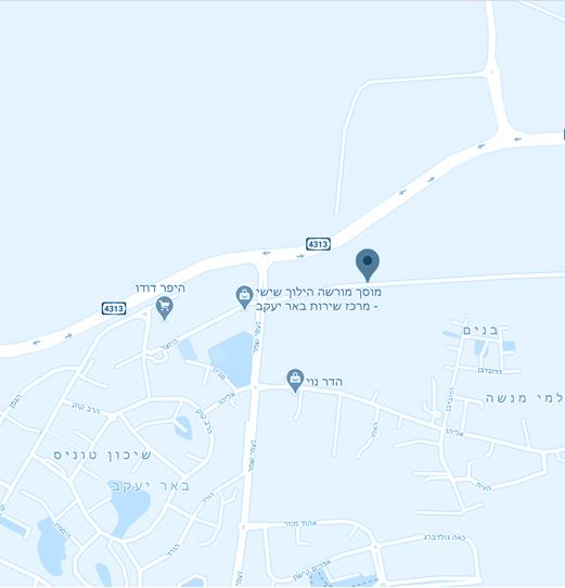 מפה גב ים באר יעקב